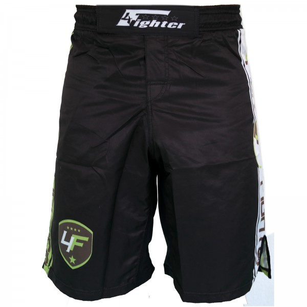 4Fighter Freefight / MMA / UFC Shorts Grappling Hose schwarz-Neongrün XS - XXXL