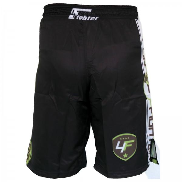 4Fighter Lucha Libre / MMA / UFC Grappling Shorts Pantalones Negro-verde neon XS - XXXL – Bild 2