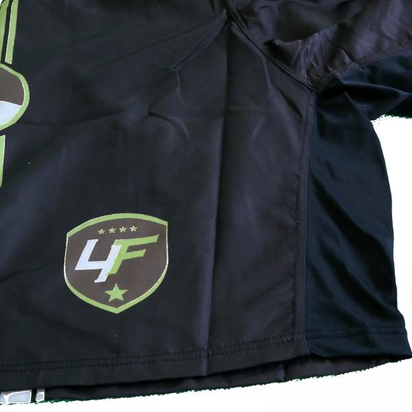 4Fighter Lucha Libre / MMA / UFC Grappling Shorts Pantalones Negro-verde neon XS - XXXL – Bild 5