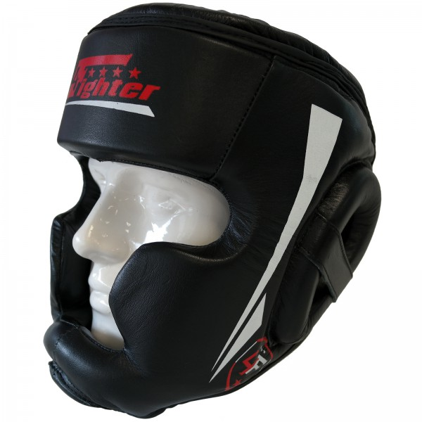 4Fighter PRO-Sparring Trainings Kopfschutz Leder mit Jochbein- Oberkopf und Kinnschutz XS-XL auch Kids – Bild 5