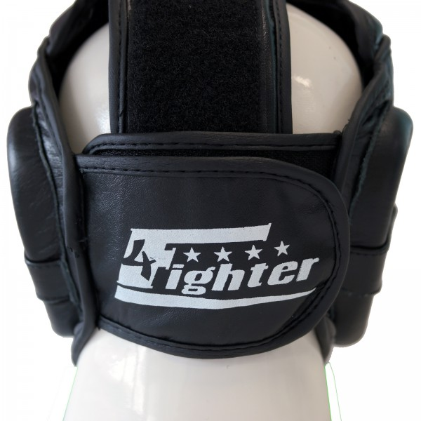 4Fighter professional sparring training head guard with cheekbone and chin guard black-white XS - XL – image 3
