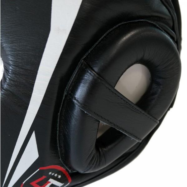 4Fighter PRO-Sparring Trainings Kopfschutz Leder mit Jochbein- Oberkopf und Kinnschutz XS-XL auch Kids – Bild 2