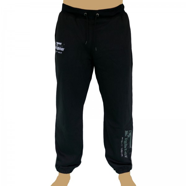 4Fighter sweatpants / training pants / leisure pant / Sport Pants black with embroidery – image 1