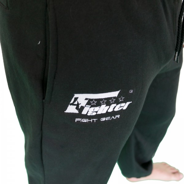 4Fighter sweatpants / training pants / leisure pant / Sport Pants black with embroidery – image 5