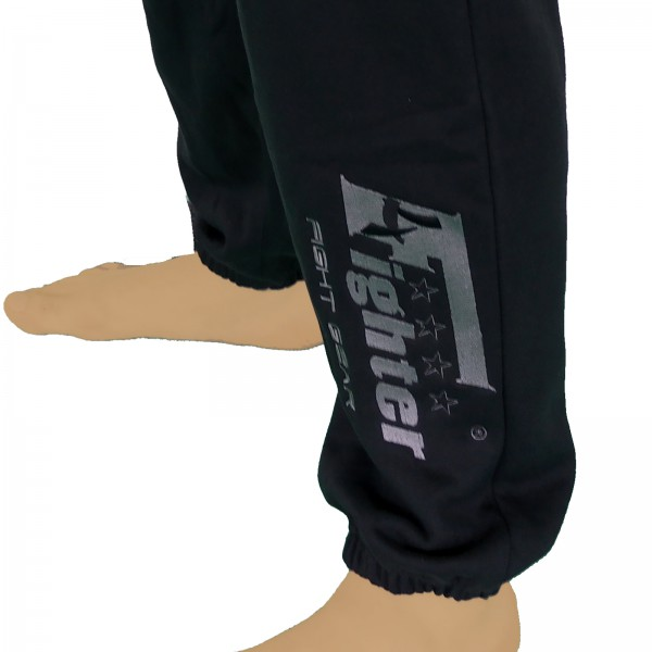 4Fighter sweatpants / training pants / leisure pant / Sport Pants black with embroidery – image 6