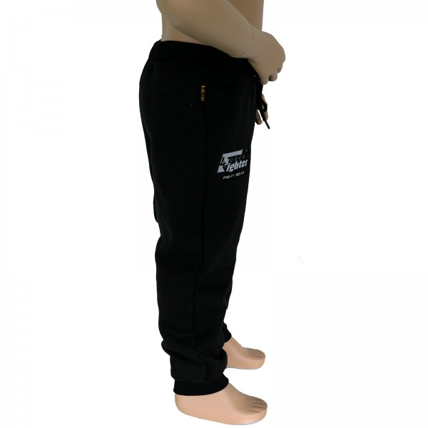 4Fighter children sweatpants / training pants / leisure pant / Sport Pants black with embroidery – image 3
