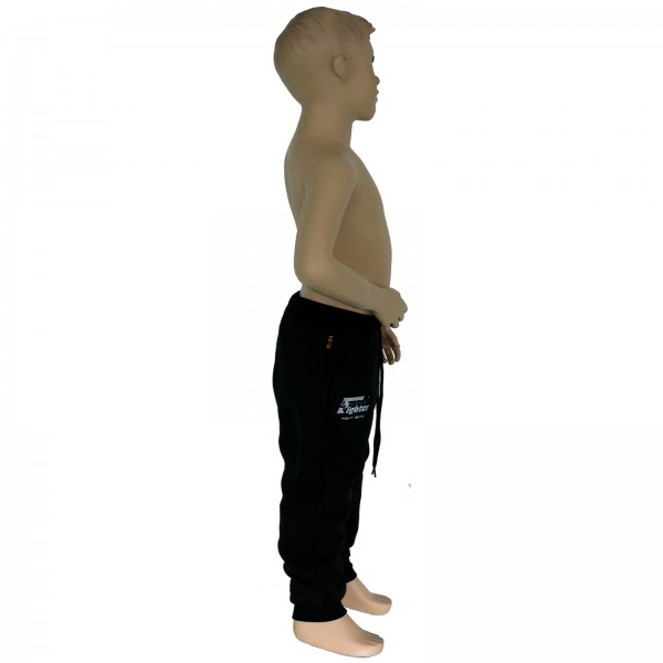 4Fighter children sweatpants / training pants / leisure pant / Sport Pants black with embroidery – image 5