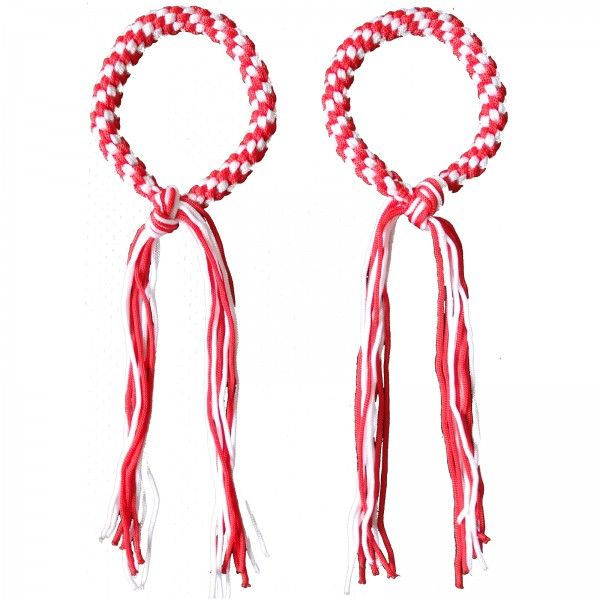 Prajead - traditional Muay Thai martial jewelry 11.Khan red-white