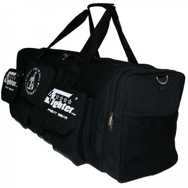 5b0f49276d3dbd 4Fighter Gymbag PRO oversized gym bag with many small pockets black / Duffel  Bag – Bild