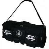 4Fighter Gymbag PRO extra große Trainingstasche mit vielen kleinen Taschen schwarz / Duffelbag