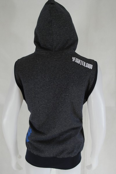 4Fighter Hoodie / Wweater Sleeveless with pockets, zipper and hood – image 5