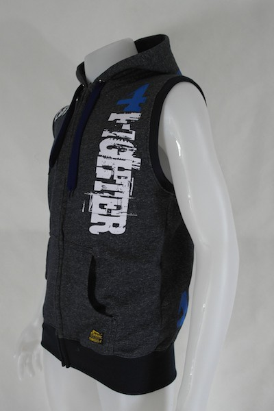 4Fighter Hoodie / Wweater Sleeveless with pockets, zipper and hood – image 2