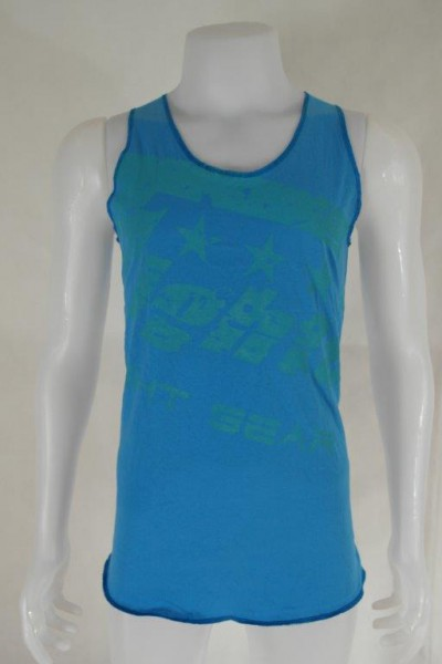 4Fighter T-shirt Muscle shirt Tanktop blue with 4Fighter printing S-XXL – image 1