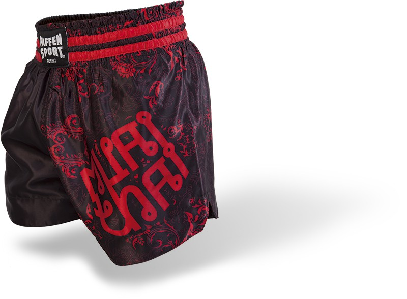 Paffen-Sport Thai Star Thaishorts black/red Dragon