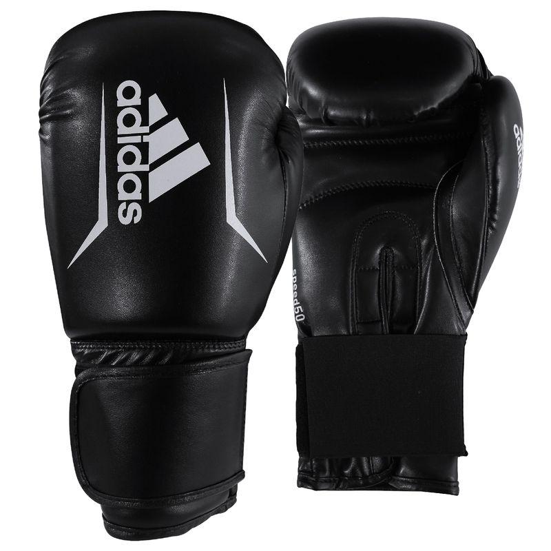 Adidas Speed 50 Boxhandschuhe in schwarz