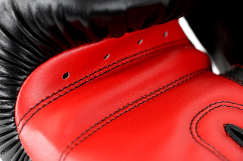Adidas Power 100 Boxing Gloves in black / red – image 3