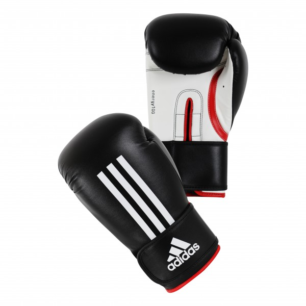Adidas Energy 100 Boxing Gloves in black / white / red – image 1