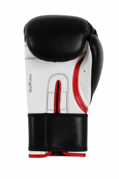 Adidas Energy 100 Boxing Gloves in black / white / red – image 2