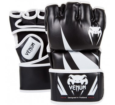 Venum Challenger MMA Gloves Synthetic Leather black / white  Venum Challenger MMA Gloves Synthetic Leather black / white S - L / XL – image 1