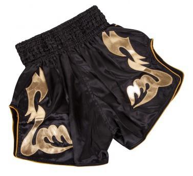 Venum Bangkok Inferno Muay Thai Shorts Schwarz/Gold – Bild 2