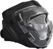 PHOENIX balaclava with visor - Leather black ideal for Krav Maga, Kobudo, MMA etc.