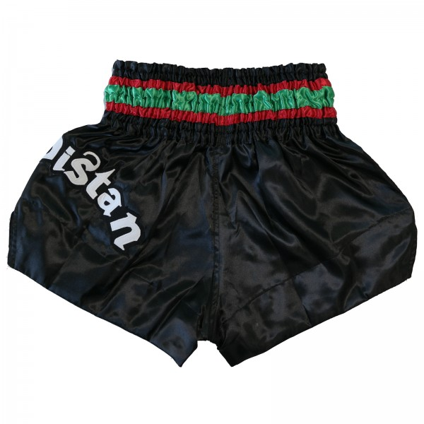 4Fighter Muay Thai Shorts Kurdistan in black / red-white-green national flag – image 2