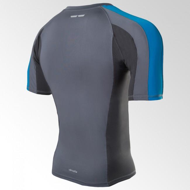 Adidas Fluid Technique Rashguard gris / azul – Bild 2