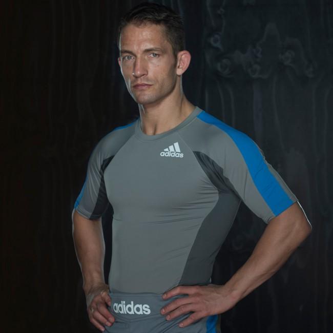 Adidas Fluid Technique Rashguard gris / azul – Bild 4