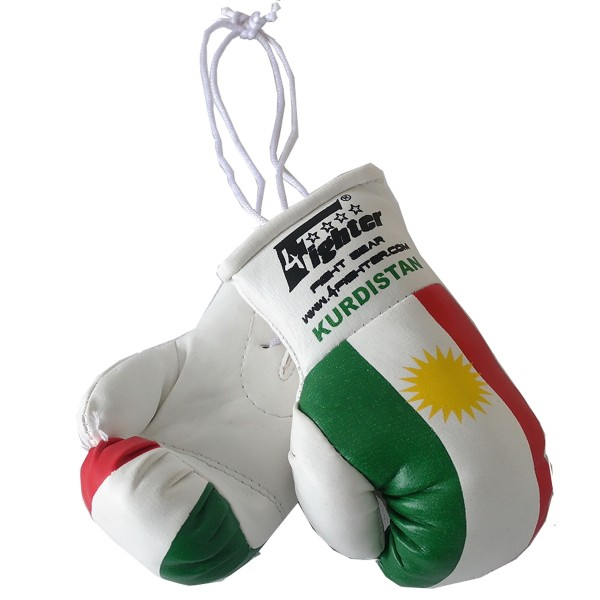 4Fighter Mini boxing gloves Italy in white with national flag and Italia lettering