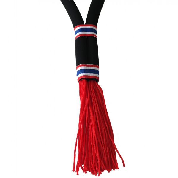 4Fighter Mongkol black-red with Thaiflags - Jewellery for tradionell muay thai fighter – image 2