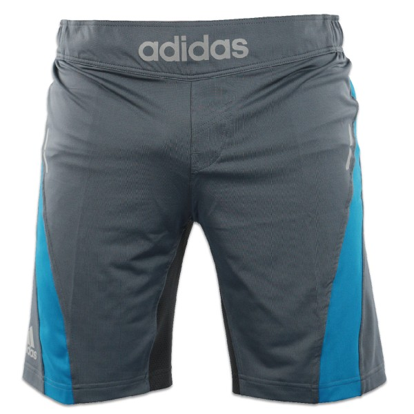 Adidas Fluid Technique MMA Shorts grau/blau – Bild 1