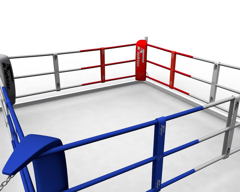 4Fighter Floor Ring 6x6 Meter 3 Seile / Boxring / Bodenring / Trainingsring – Bild 3