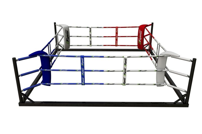 4Fighter Floor Ring 6x6 Meter 3 Seile / Boxring / Bodenring / Trainingsring – Bild 1