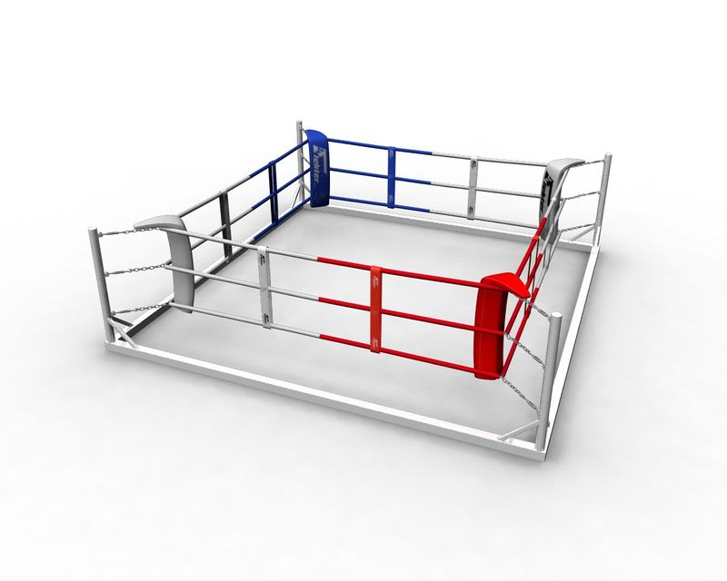 4Fighter Floor Ring 5x5 Meter 3 Seile / Boxring / Bodenring / Trainingsring – Bild 4