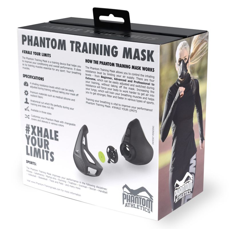 Phantom Training Mask - Phantom Athletics Trainingsmaske schwarz S, M, L – Bild 4