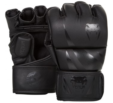 Venum Challenger MMA Gloves Synthetic Leather black / black Venum Challenger MMA Gloves Synthetic Leather black / white S - L / XL – image 1