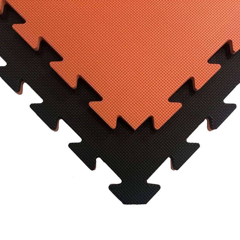 4Fighter 2cm martial arts mat DOUBLE CROSS orange-black – image 1