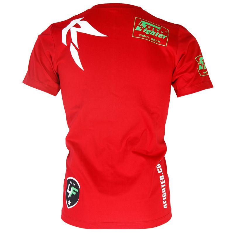 4Fighter camiseta en rojo con respeto impresión blanco / Fuerza y honor - Fuerza y honor / También para los niños. – Bild 3