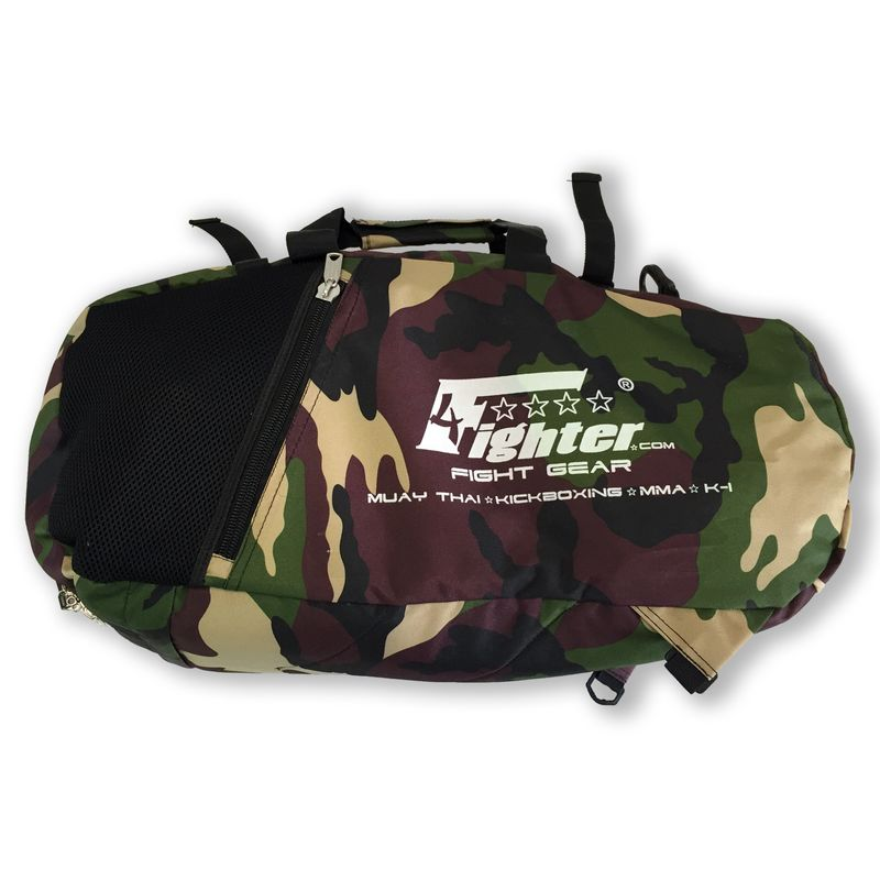 4Fighter M Camo mesh gym bag with backpack / Duffel Bag + Backpack – image 1