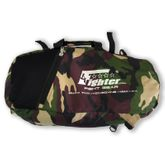 4Fighter M Mesh Gymbag Trainingstasche mit Rucksack braunes Camouflage Duffelbag Backpack