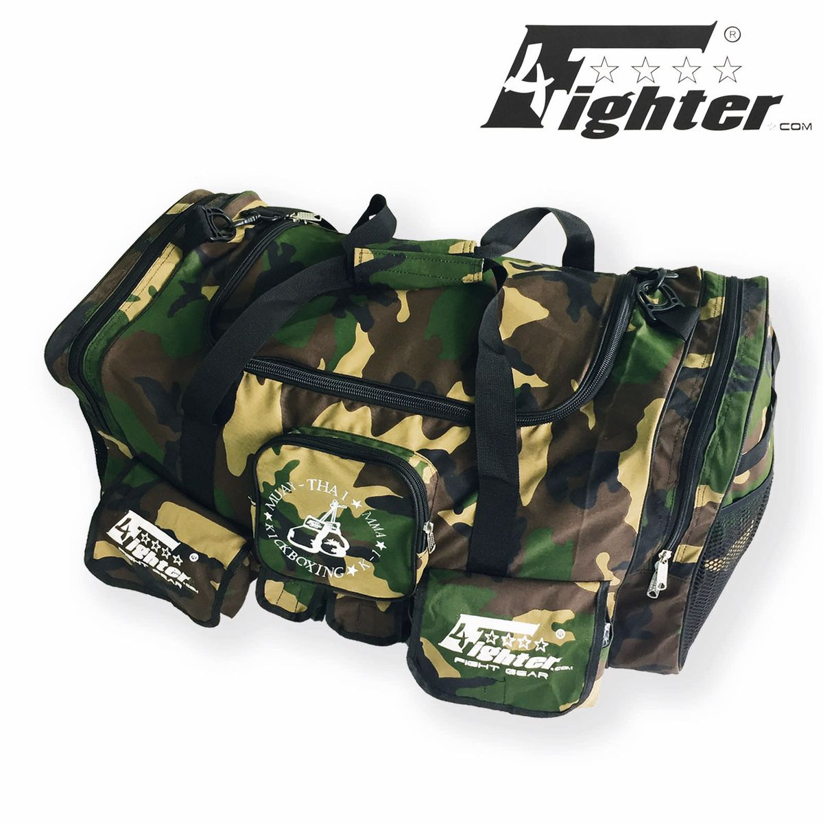 4Fighter Gymbag PRO Oversized Gym Bag With Many Small Pockets Camo Duffel Bild