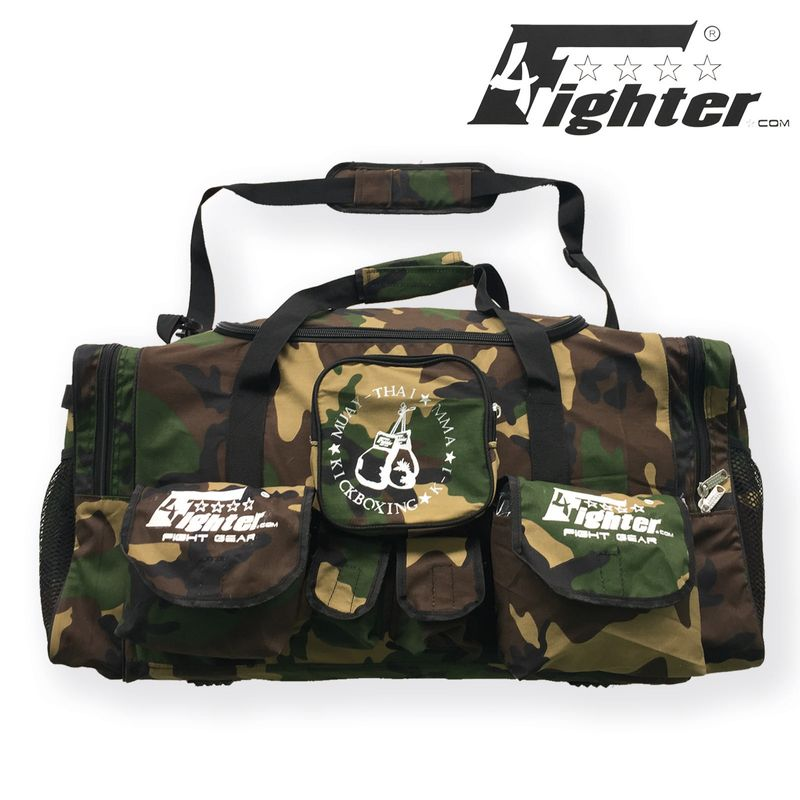 4Fighter Gymbag PRO oversized gym bag with many small pockets camo / Duffel Bag – image 1