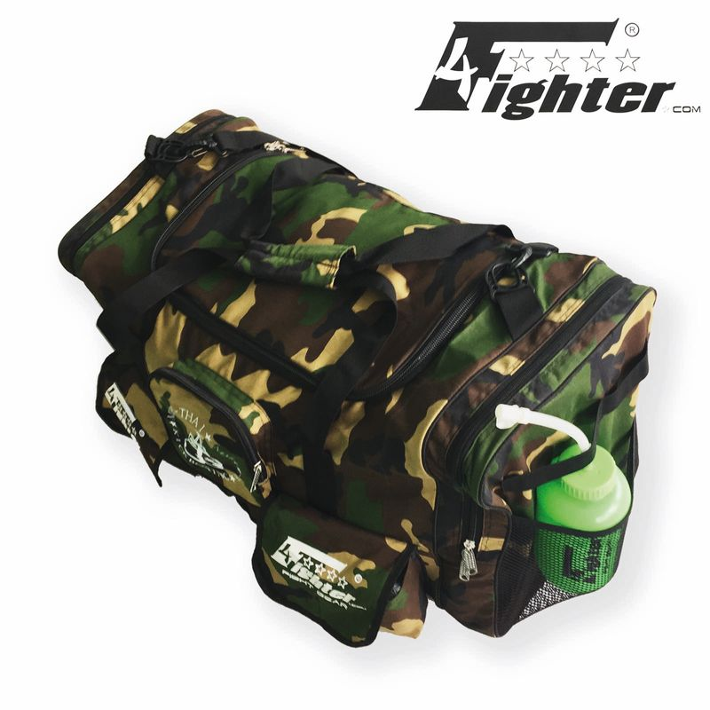 4Fighter Gymbag PRO oversized gym bag with many small pockets camo / Duffel Bag – image 3