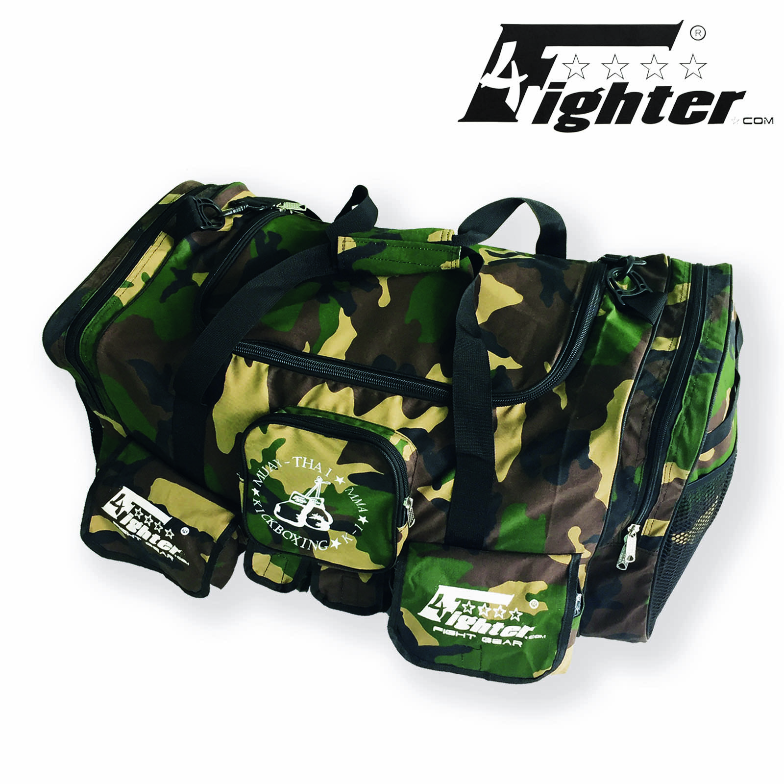 55471f11c8 4Fighter Gymbag PRO oversized gym bag with many small pockets camo   Duffel  Bag – Bild