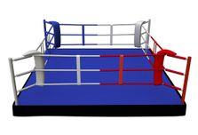 4Fighter Boxring Training PROFESSIONAL 5m x 5m / 3 Seile / Podest 30cm 001