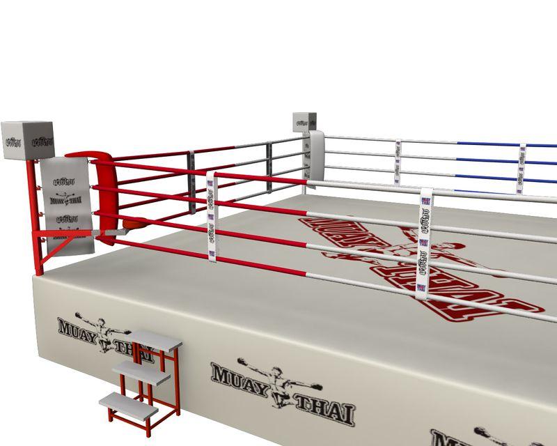 4Fighter Wettkampf Boxring Muay Thai 7x7m (außen) 6,1 x 6,1m (innen) / 4 Seile / 1 Meter hoch – Bild 3