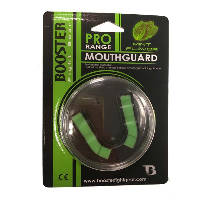 MG-Booster Mouthguard for adults - green / black with mint flavor