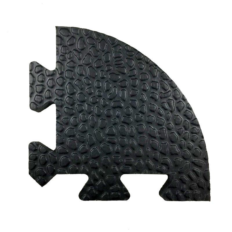 4Fighter Stone Mat 4 Eckstücke für Profi Bodenschutzmatte schwarz 13,5 x 13,5 x 1,4 cm – Bild 1