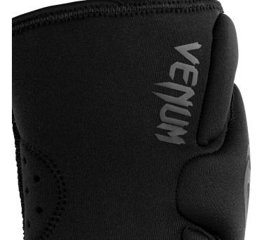 Venum Kontact Gel Knee Pad Knieschützer Neopren-Gel für MMA / Muay Thai Boxen - Schwarz/Schwarz – Bild 3