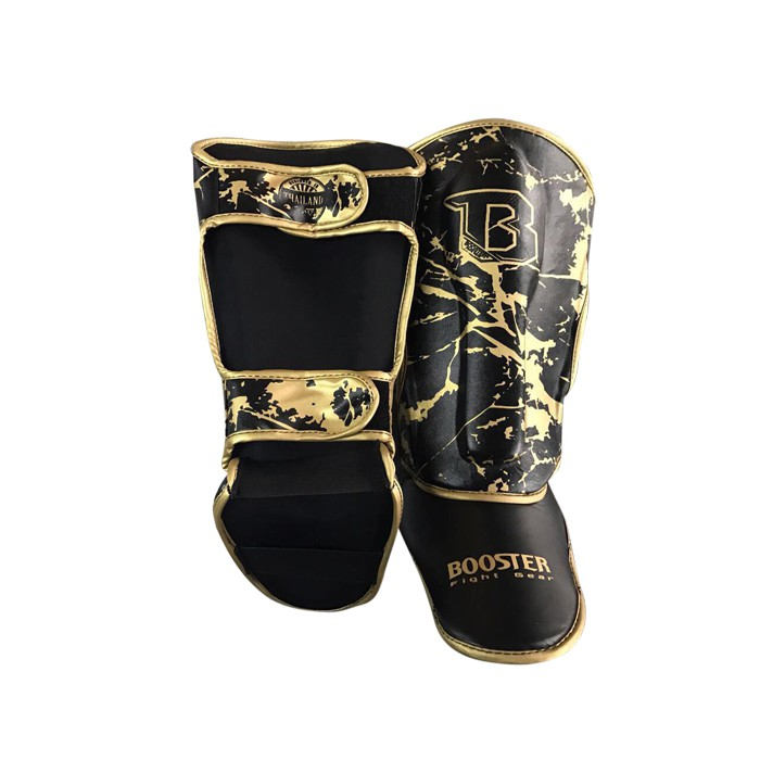 Booster Youth Marble Gold Shinguard - black / marble gold – image 2